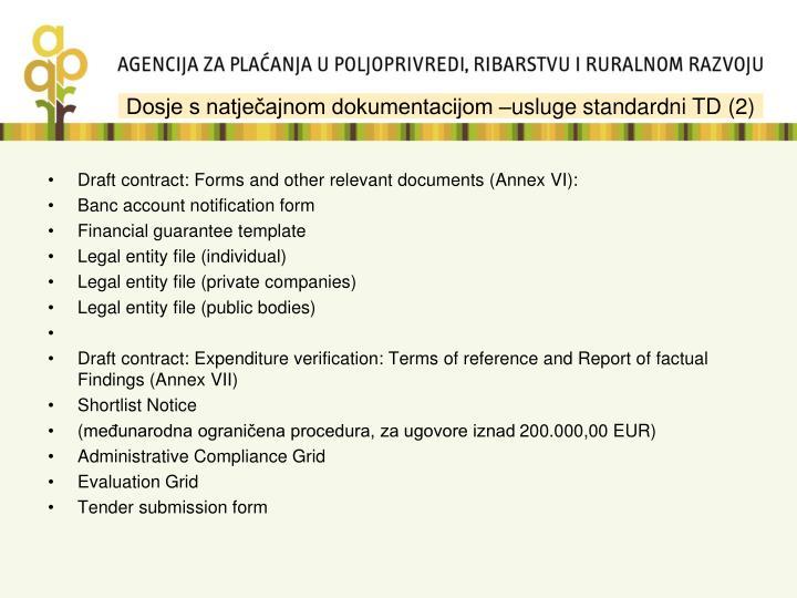 Dosje s natječajnom dokumentacijom –usluge standardni TD (2)