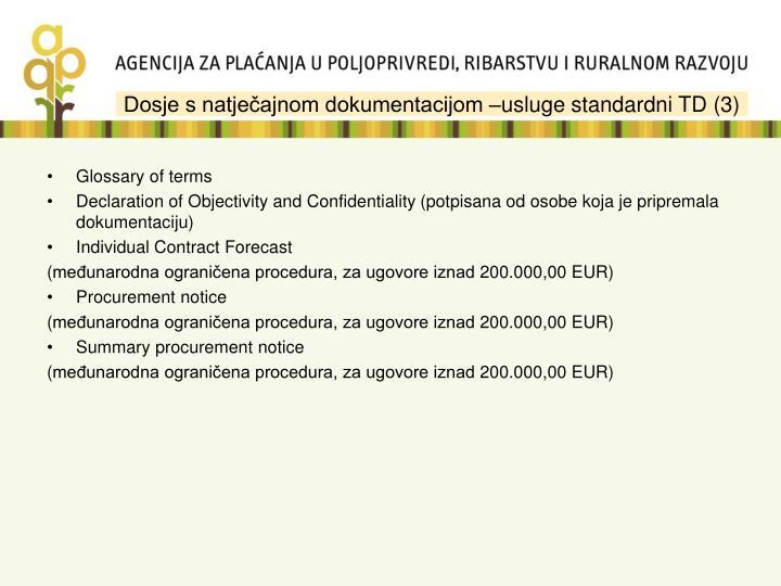 Dosje s natječajnom dokumentacijom –usluge standardni TD (3)