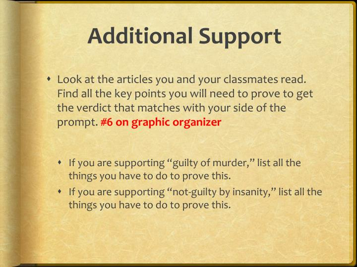 Additional Support