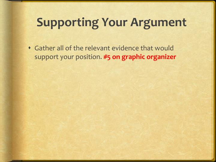 Supporting Your Argument