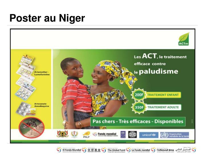 Poster au Niger
