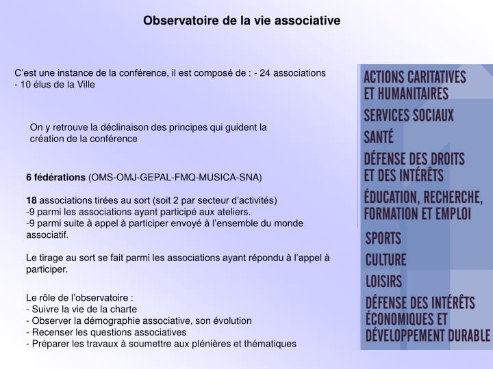 Observatoire de la vie associative
