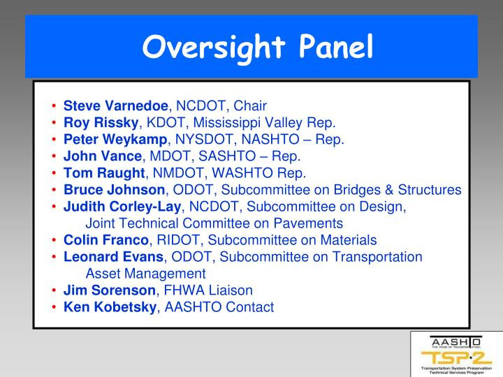 Oversight Panel