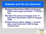 website and on line services