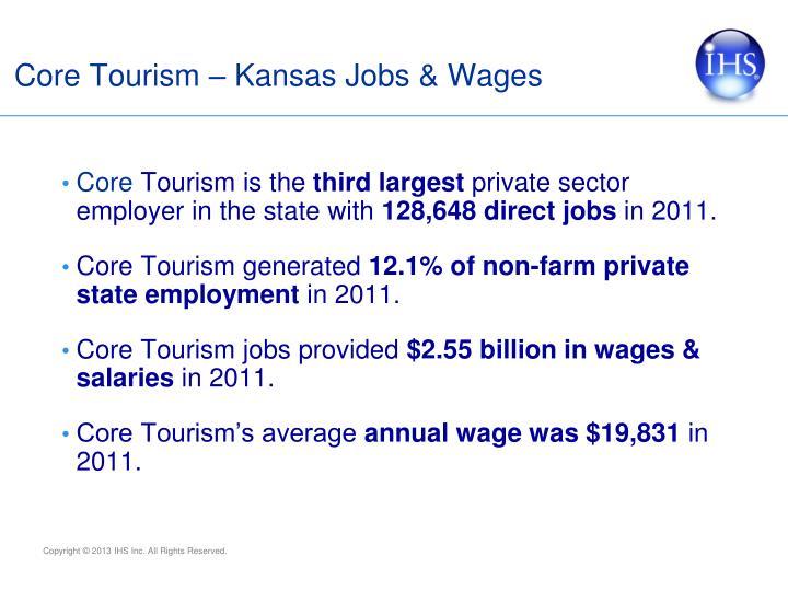 Core Tourism – Kansas Jobs & Wages