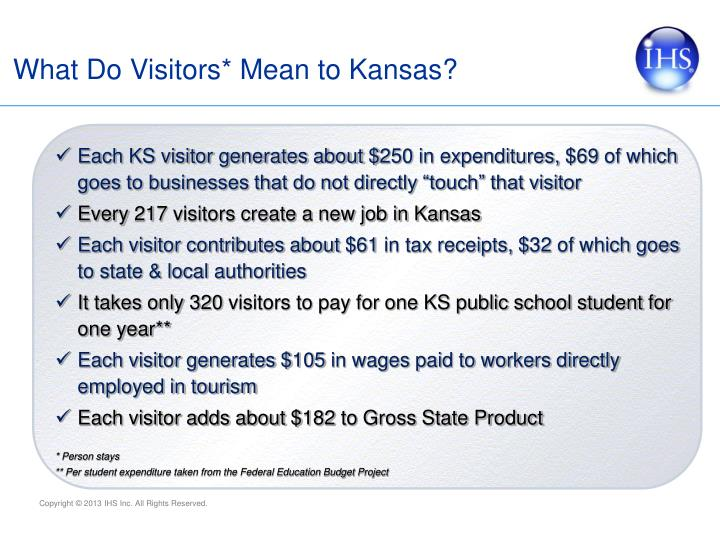 What Do Visitors* Mean to Kansas?