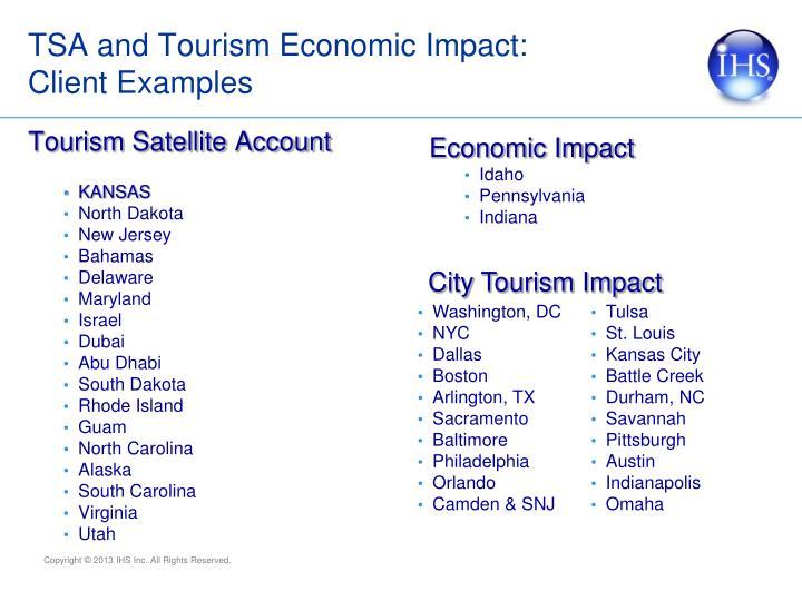 TSA and Tourism Economic