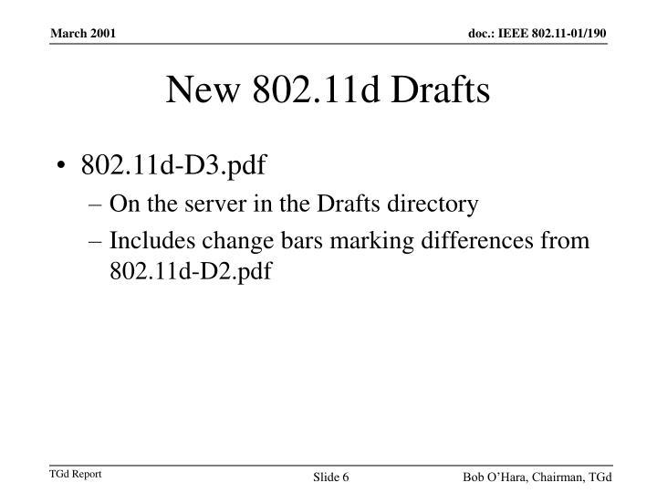 New 802.11d Drafts