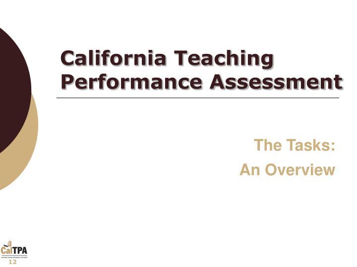 California Teaching Performance Assessment