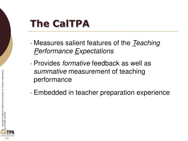 The CalTPA