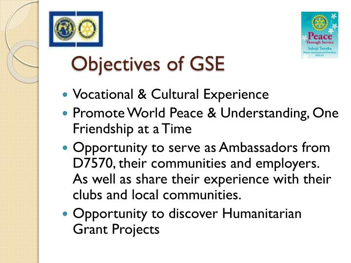 Objectives of GSE