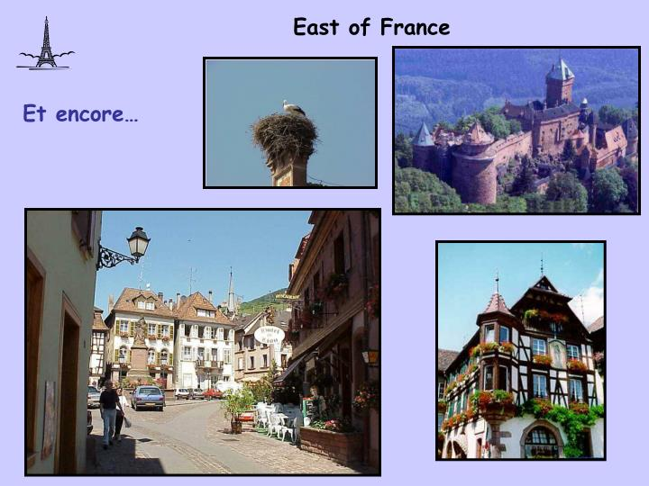 East of France