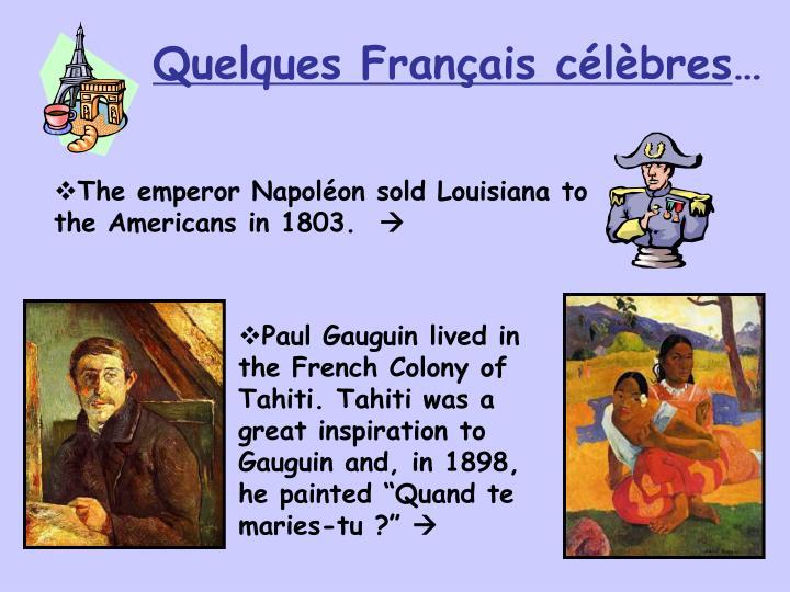 Quelques Français célèbres