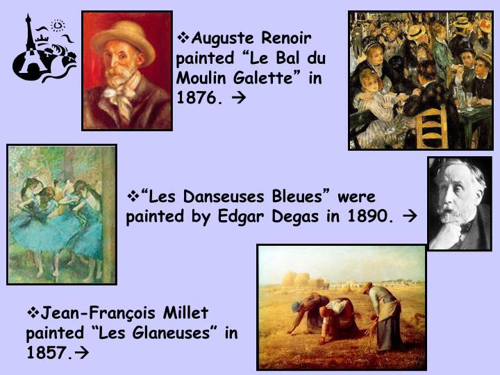 Auguste Renoir painted