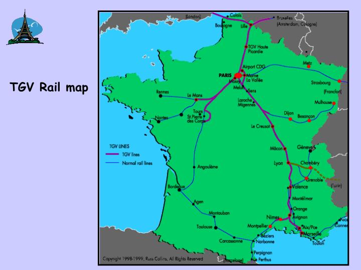 TGV Rail map