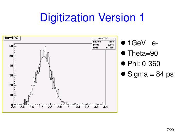 Digitization Version 1