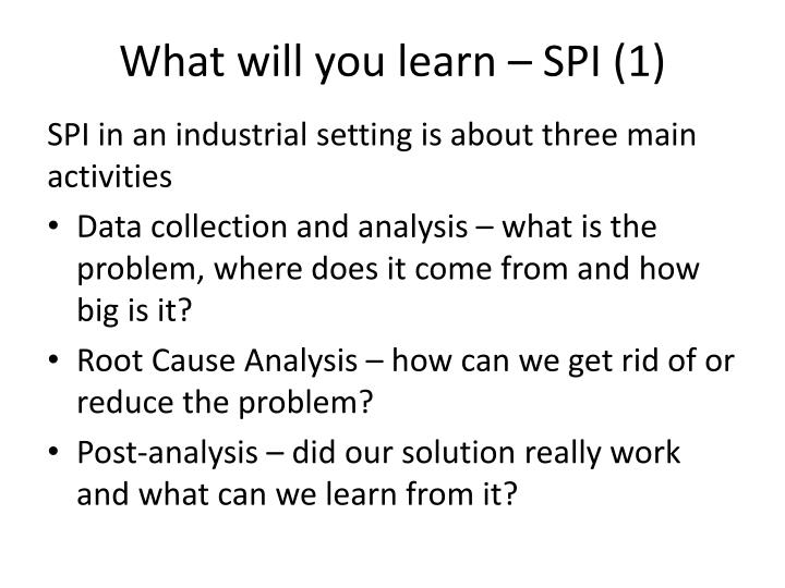 What will you learn – SPI (1)