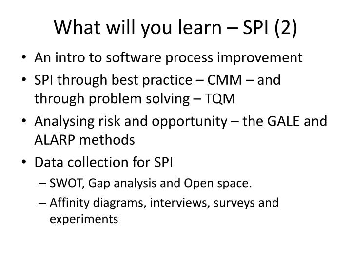 What will you learn – SPI (2)