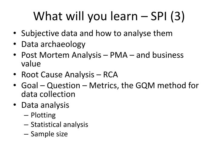 What will you learn – SPI (3)