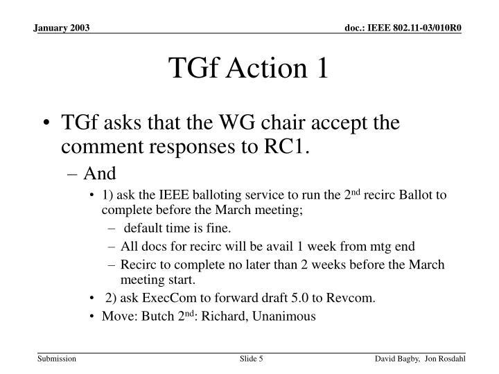 TGf Action 1