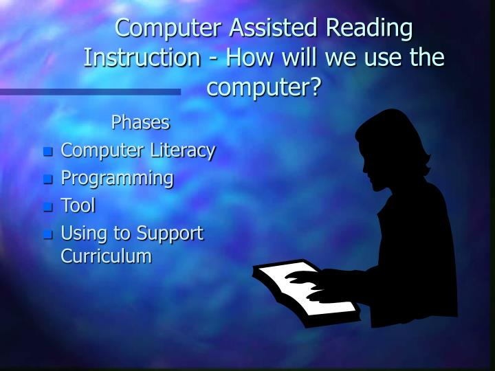 Computer Assisted Reading Instruction - How will we use the computer?