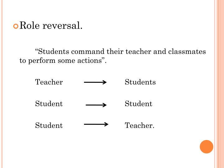 Role reversal.