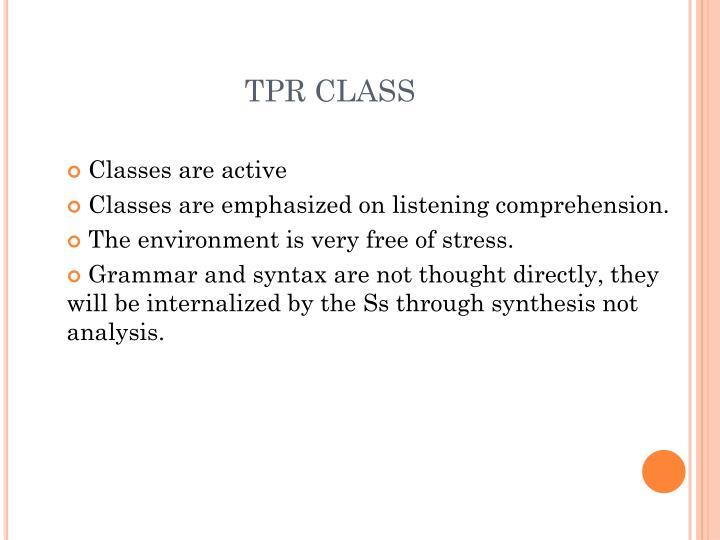 TPR CLASS