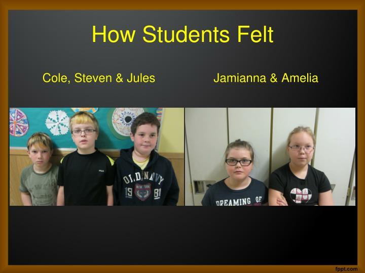 How Students Felt