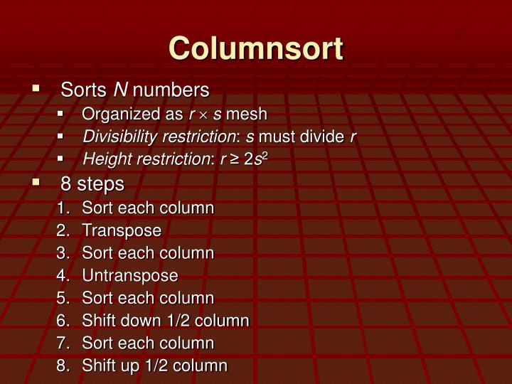 Columnsort