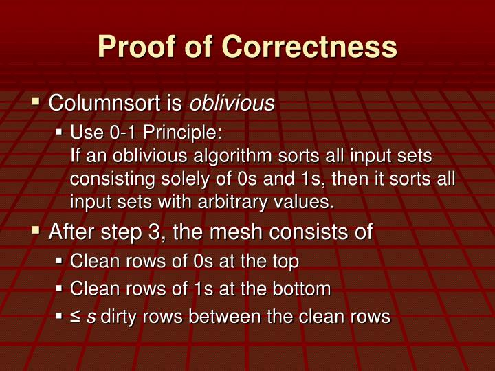 Proof of Correctness
