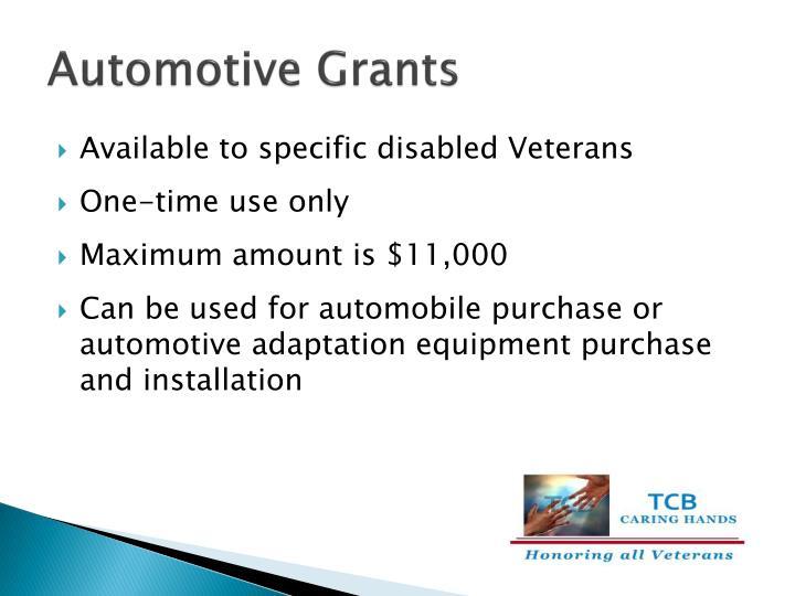 Automotive Grants
