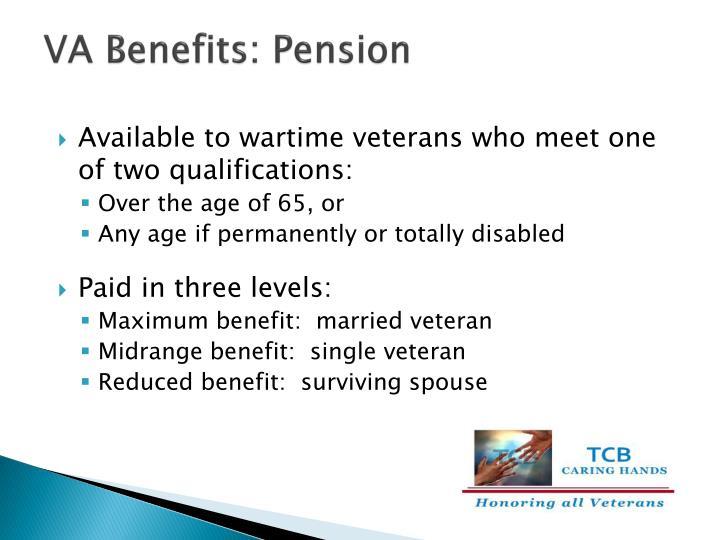 VA Benefits: Pension