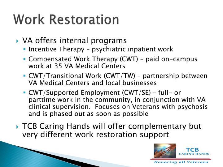 Work Restoration