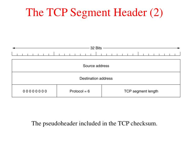 The TCP Segment Header (2)