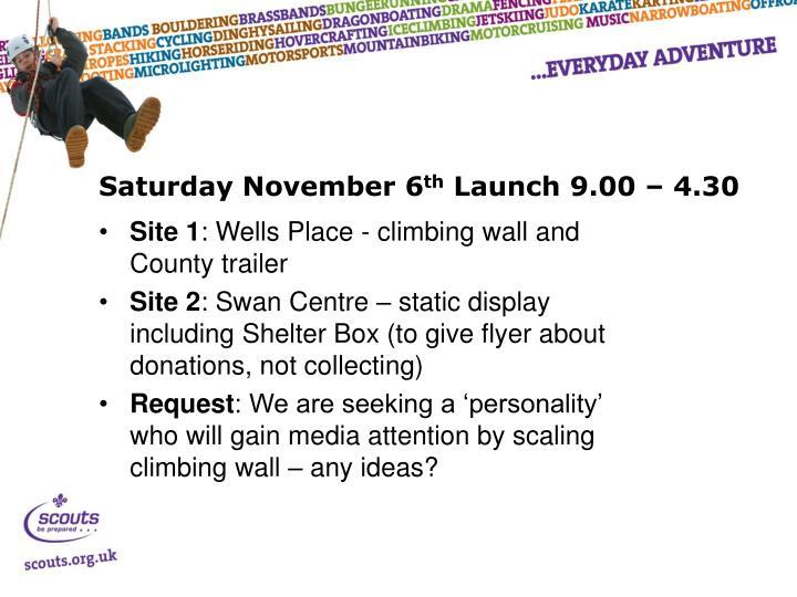 Saturday November 6