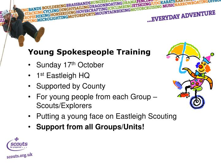 Young Spokespeople Training