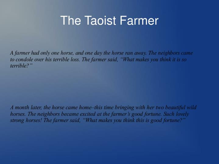 The taoist farmer