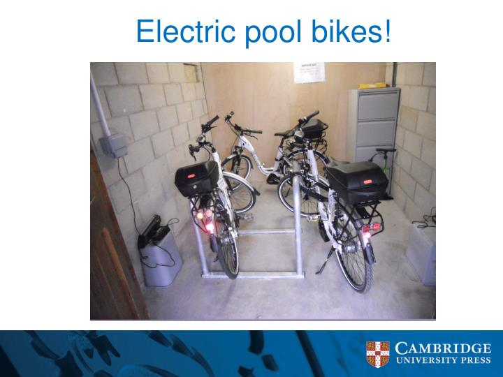 Electric pool bikes!