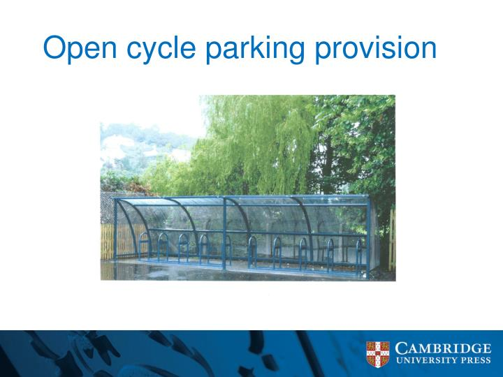 Open cycle parking provision