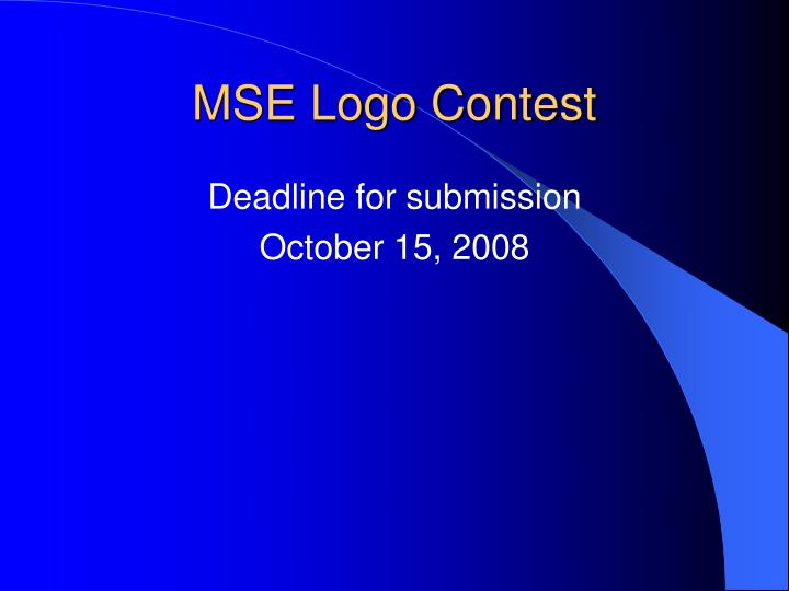 MSE Logo Contest