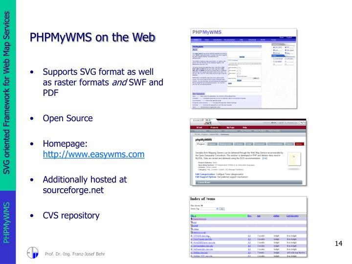 PHPMyWMS on the Web