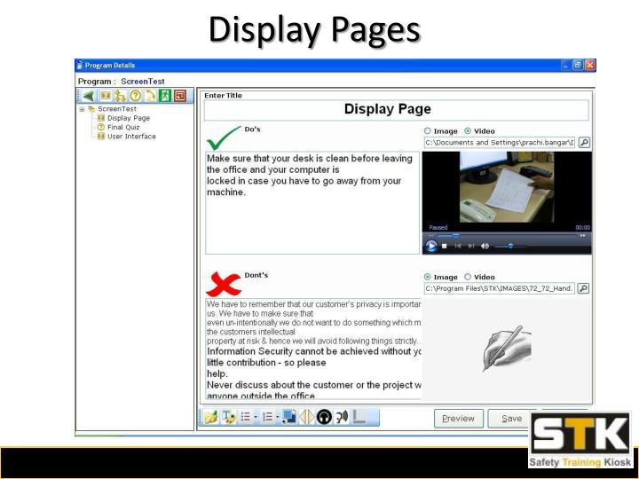 Display Pages
