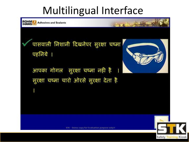 Multilingual Interface