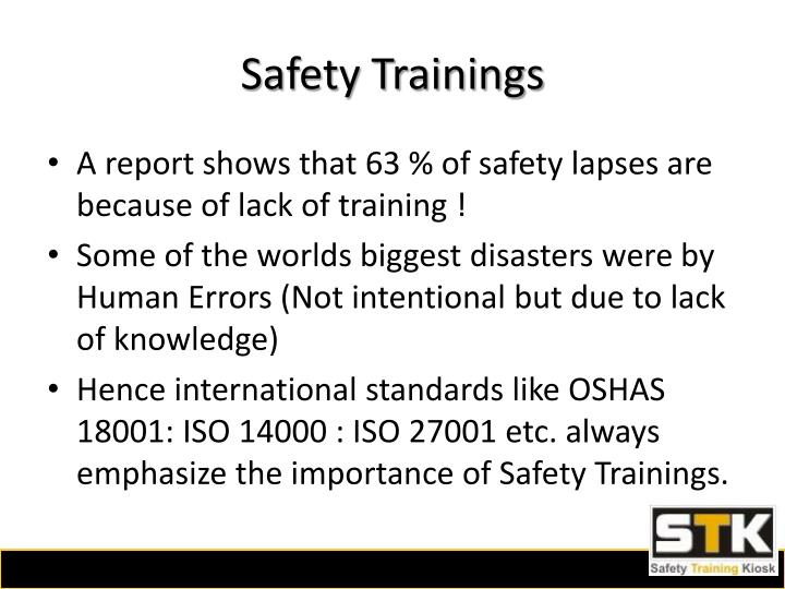 Safety trainings