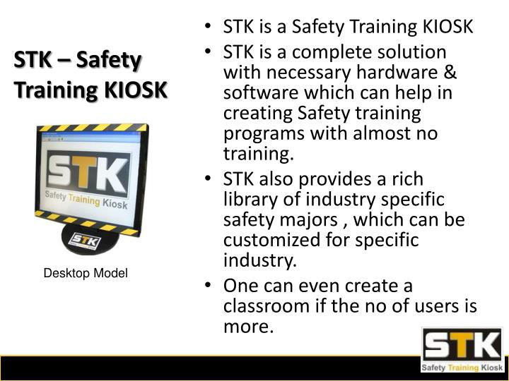 STK – Safety Training KIOSK