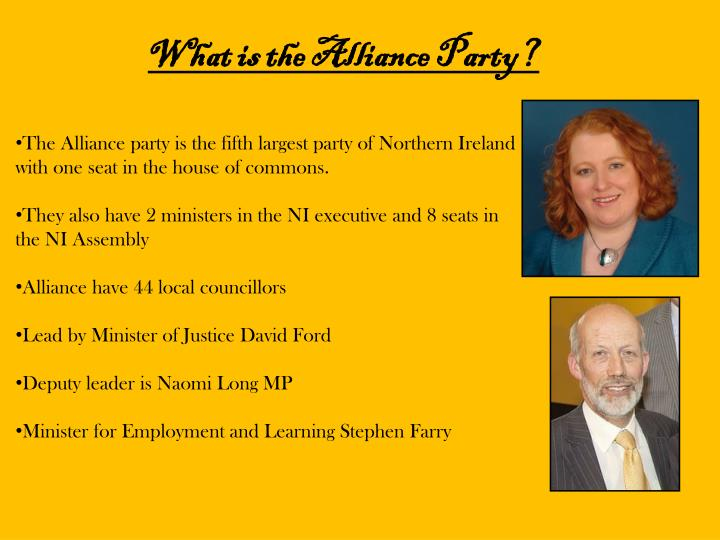 What is the Alliance Party?