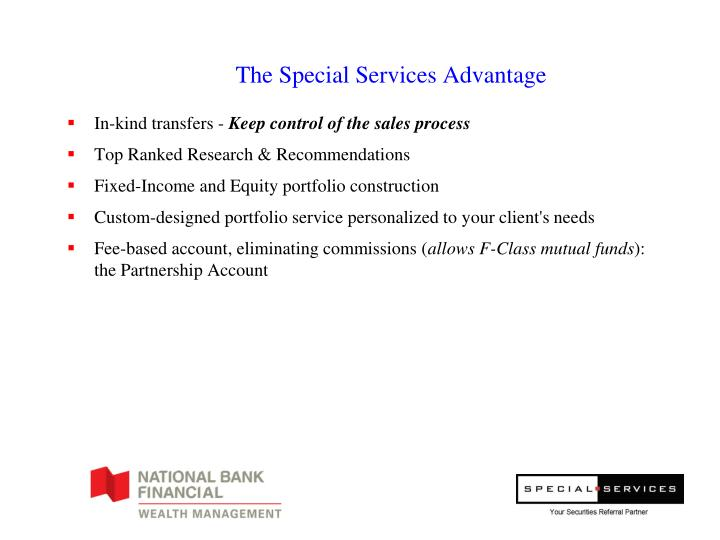 The Special Services Advantage