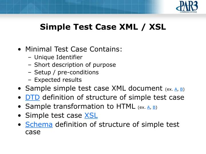 Simple Test Case XML / XSL