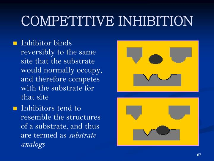 Inhibitor binds reversibly to the same site that the substrate would normally occupy, and therefore competes with the substrate for that site