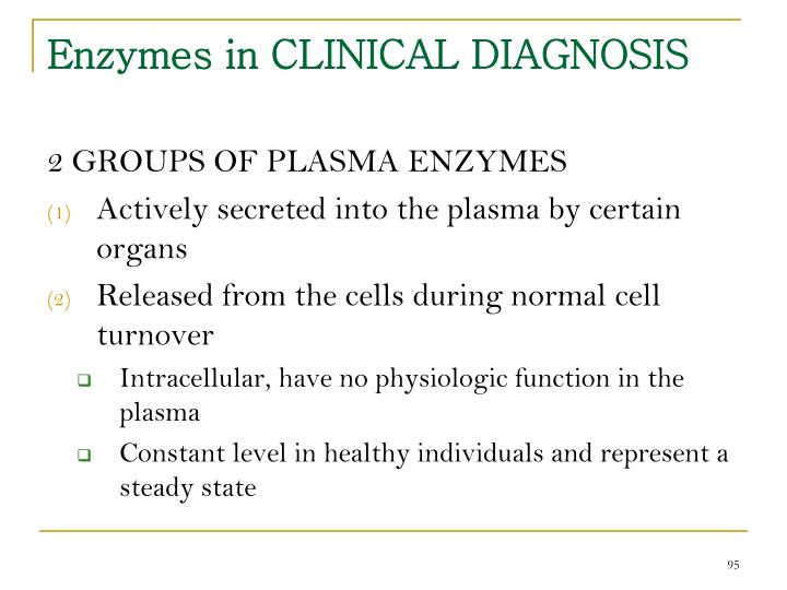 Enzymes in CLINICAL DIAGNOSIS